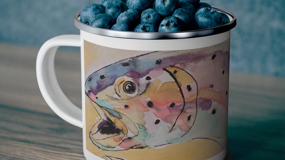 Rainbow Trout Enamel Camping Mug