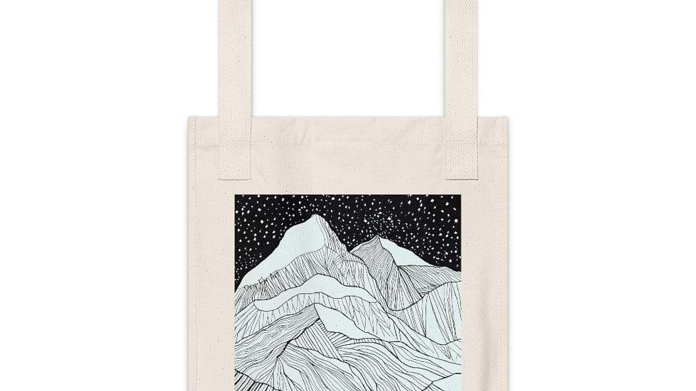 Organic Canvas Mountain Tote Bag
