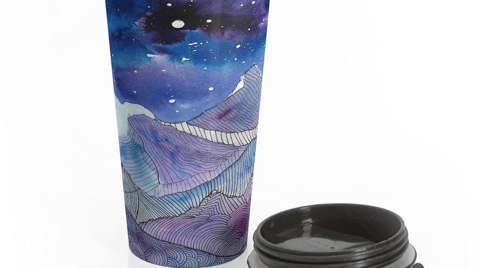 10 Mile Mosaic - Stainless Steel Travel Mug