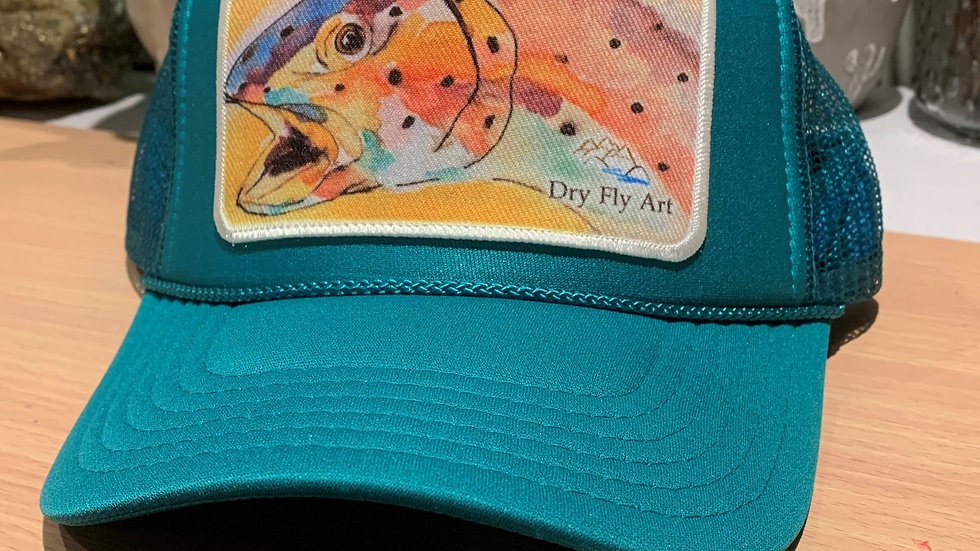 Teal Trout Hat