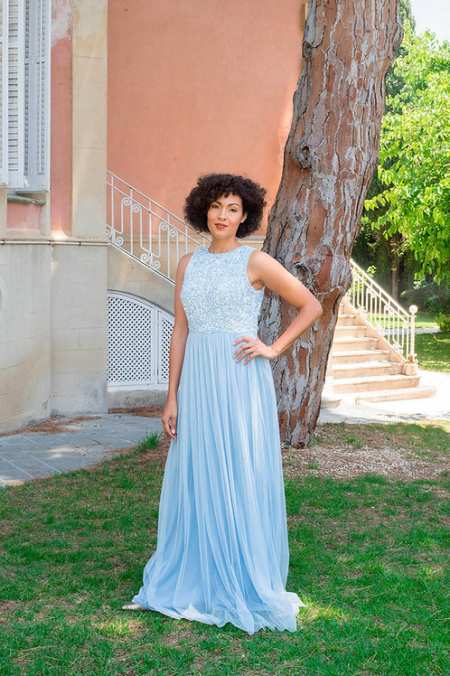 Irina maxi light blue