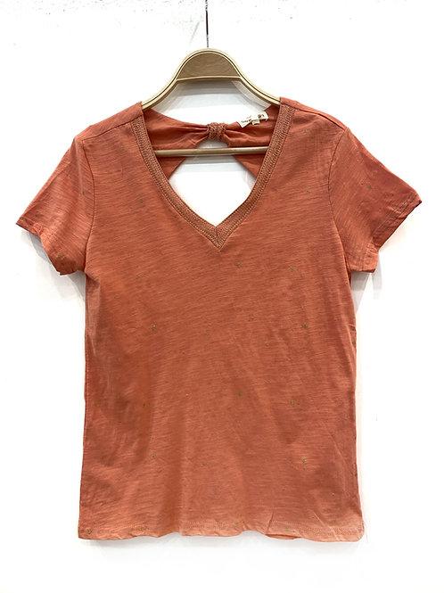 Camiseta coral estrellitas