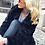 Thumbnail: Abrigo azul noche de pelo sintético (también verde botella)
