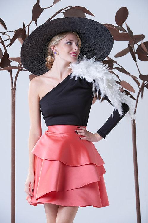 Falda color coral Julianne Panambi