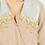 Thumbnail: Vestido largo beige de seda con lentejuelas SAYAN