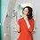 Thumbnail: Vestido corto rojo espalda escotada manga 3/4