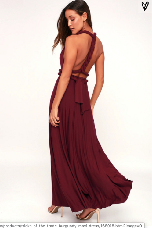 Multi-Dress Maxi Burgundy