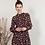 Thumbnail: Vestido estampado floral granate con botones