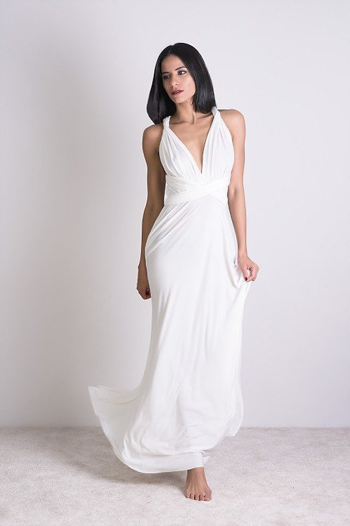 Multi-Dress Maxi White