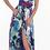 Thumbnail: Vestido largo asimétrico estampado floral violeta ROSE