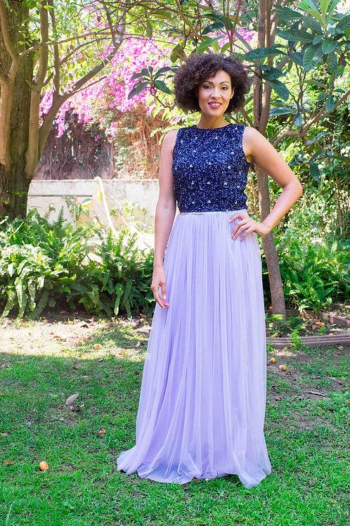 Inés maxi skirt lilac