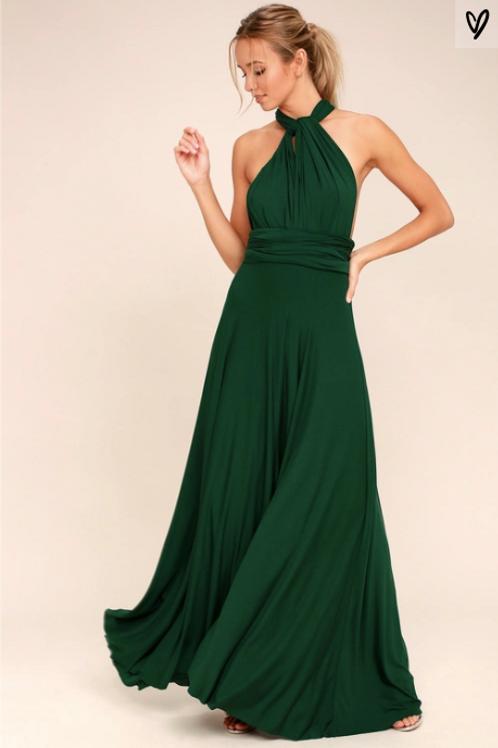 Multi-Dress Maxi Green