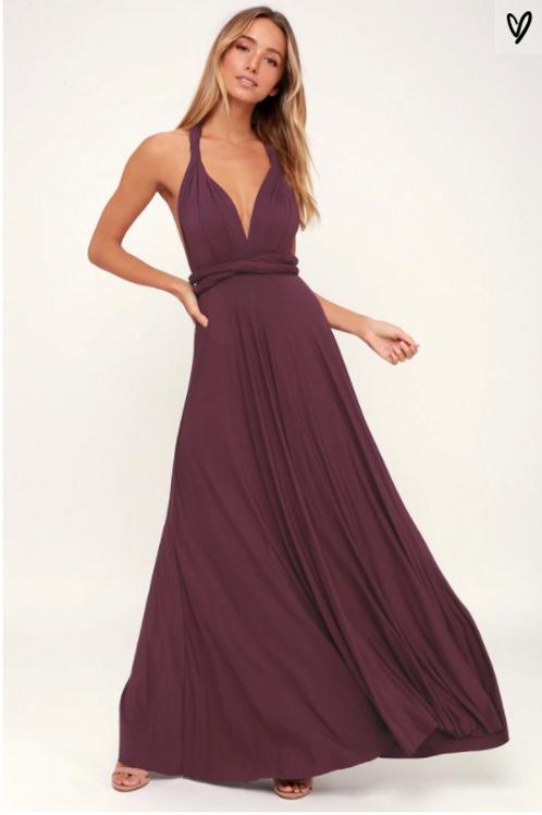 Multi-Dress Maxi Aubergine