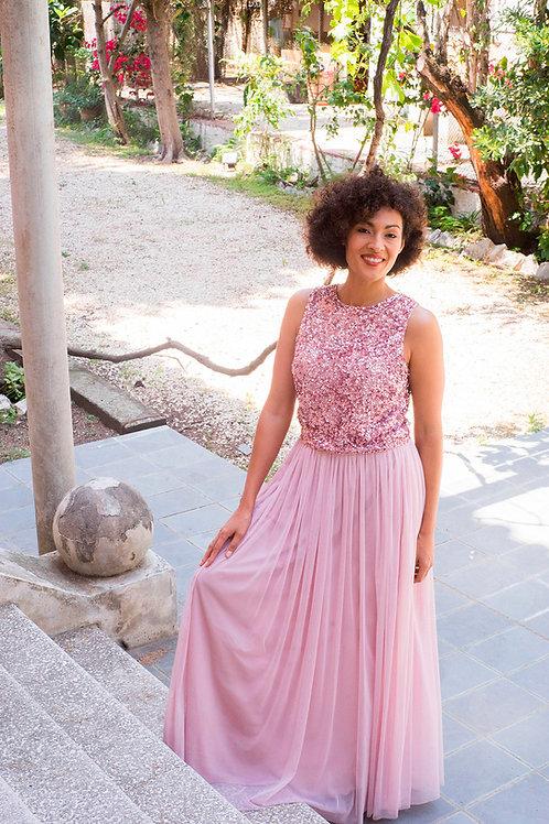 Inés maxi skirt pink