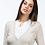 Thumbnail: Jersey crudo cuello pico con detalle camisa blanca