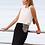 Thumbnail: Falda larga gris tipo tubo detalle plateado