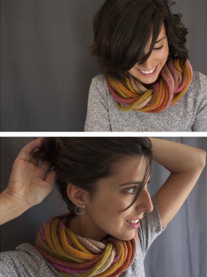 Cuello-collar de lana con doble posición