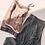 Thumbnail: Falda larga lurex plata con volante cruzado
