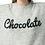"Thumbnail: Jersey nude de punto con mensaje ""Chocolate"""