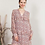 Thumbnail: Vestido de gasa estampado floral rosado