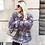Thumbnail: Abrigo pelo sintético con franjas color gris