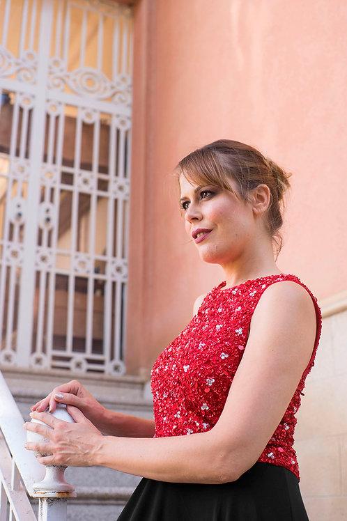 Clara top red