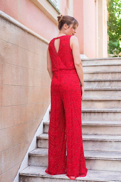Alba jumpsuit red