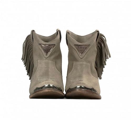 Layer Boots botín de ante gris con flecos