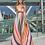 Thumbnail: Vestido multicolor con transparencia en escote SONIA PEÑA