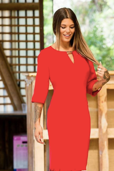 Vestido rojo corto
