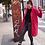Thumbnail: Abrigo de paño color fresa con bolsillos y solapa