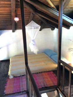 Mezzanine double bed