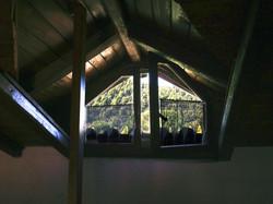 Mezzanine window to the forest