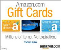 CLICK HERE FOR AMAZON GIFT CARDS FOR HEALTHY BOOKS & PRODUCTS