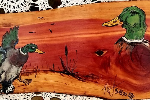 Ducks Art on Wood- #102