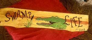 Mark Solo Signed Art on Wod Freehand Woodburn Paint Patriotic Sports Custom Gators Dawg Eagle America Dragonfly Pirate Fishing Deer Hunting Indian Wine Time Rooster Keyholder House DividedSigned Art On Wood Freehand Woodbur & Paint