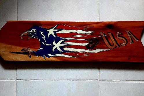 Eagle Head with Flag