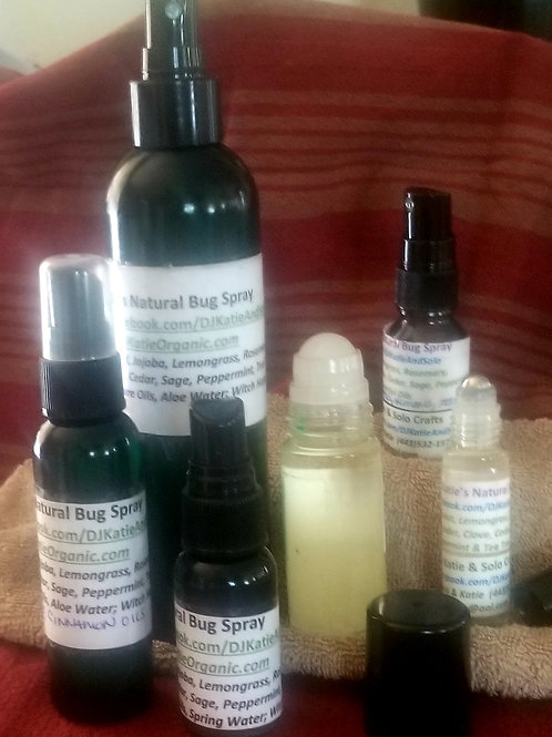 Bug Oil Blend or Spray (Mosquitos/NoSeeUms/Biting Flies