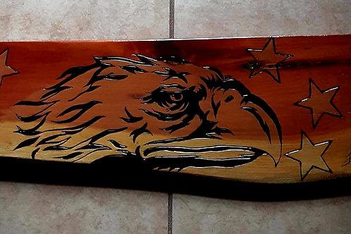 Eagle Head Art on Wood