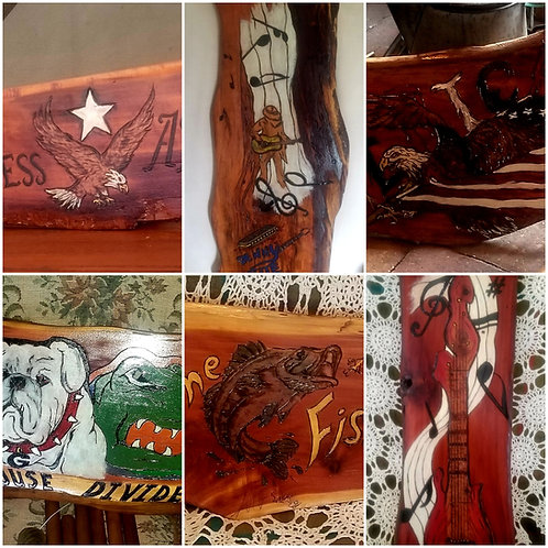 Custom Art On Wood Deposit