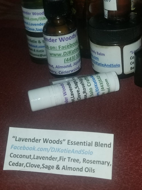 Lavender Woods Essential Oil Blend, Body Lotion or Balm