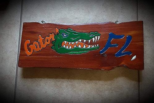 Gator Art on Wood -#111