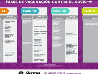 Información sobre el Plan y las Fases de Vacunación contra el COVID-19