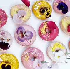 wedding iced doughnuts