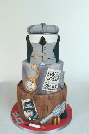 Peaky Blinders Birthday Cake