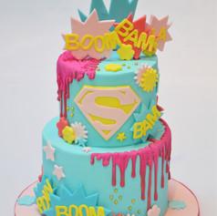 Supergirl birthday cake