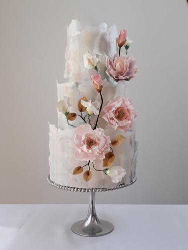 soft ruffle blush sugar flower wedding c