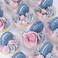 macaron buttercream cupcakes