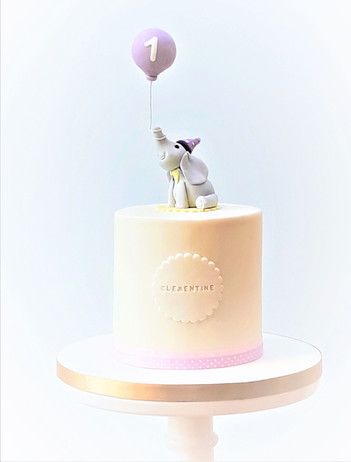Elephant & balloon Birthday cake