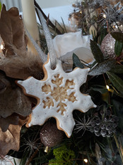 Snowflake biscuit decoration